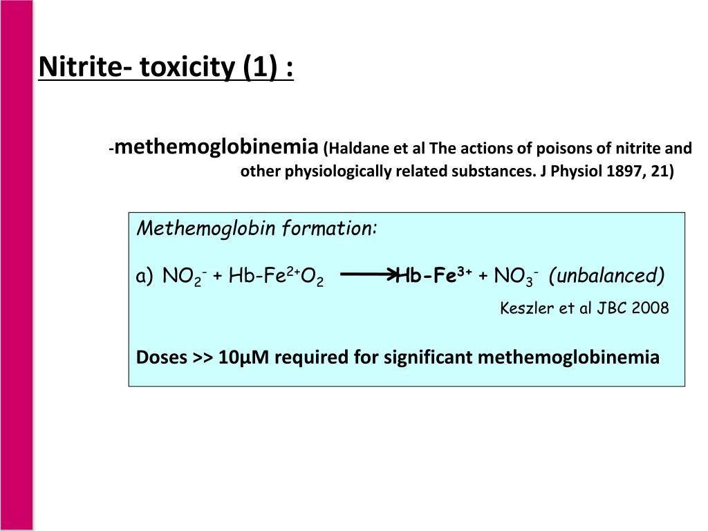 Nitrite- toxicity (1) :
