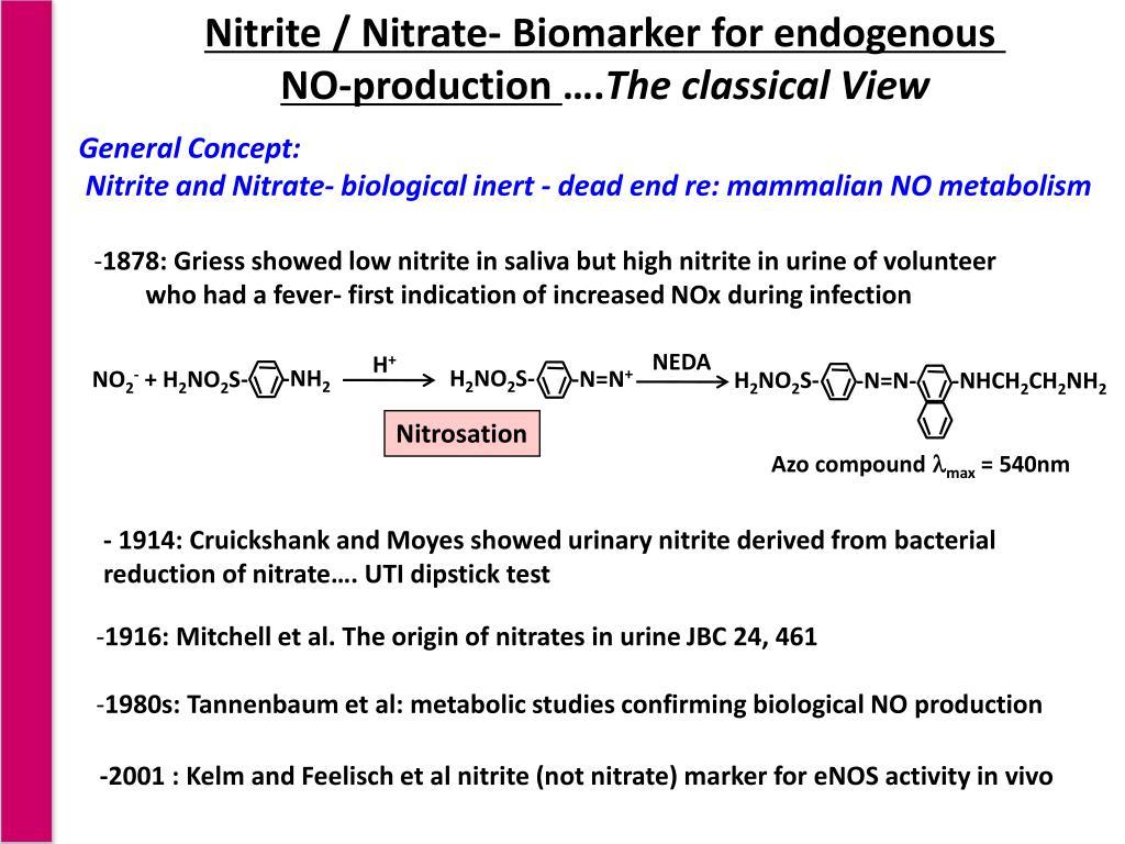 Nitrite / Nitrate- Biomarker for endogenous