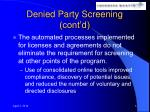 denied party screening cont d6