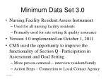 minimum data set 3 0