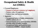 occupational safety health act osha