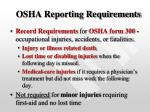 osha reporting requirements