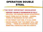 operation double steal20