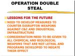 operation double steal45