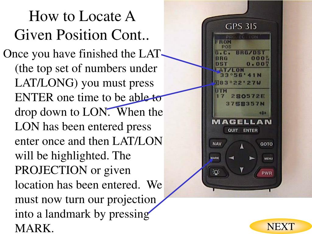 How to Locate A Given Position Cont..