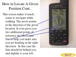 how to locate a given position cont33