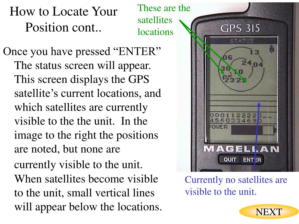 These are the satellites locations