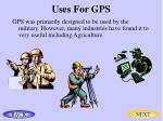 uses for gps