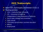ccc transcripts