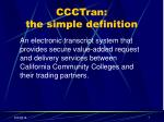 ccctran the simple definition