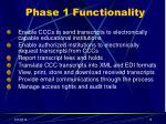 phase 1 functionality