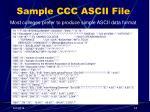 sample ccc ascii file