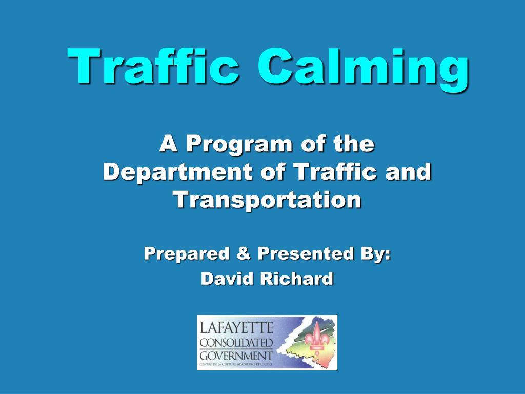 traffic calming l.