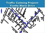 traffic calming project yvette marie drive