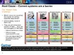 root cause current systems are a barrier