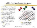 dgps carrier phase solutions