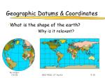 geographic datums coordinates
