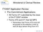 ministerial clerical review26