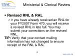 ministerial clerical review28