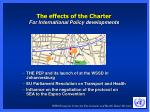 the effects of the charter for international policy developments