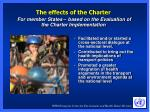 the effects of the charter for member states based on the evaluation of the charter implementation