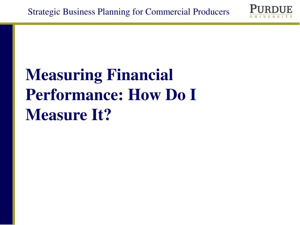 measuring financial performance how do i measure it l.