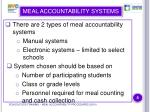 meal accountability systems