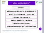 meal accountability