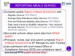reporting meals served19