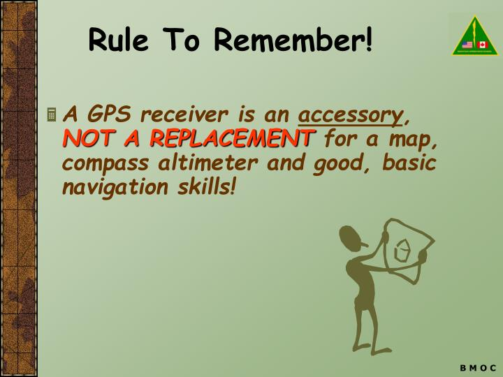 Rule to remember