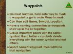 waypoints
