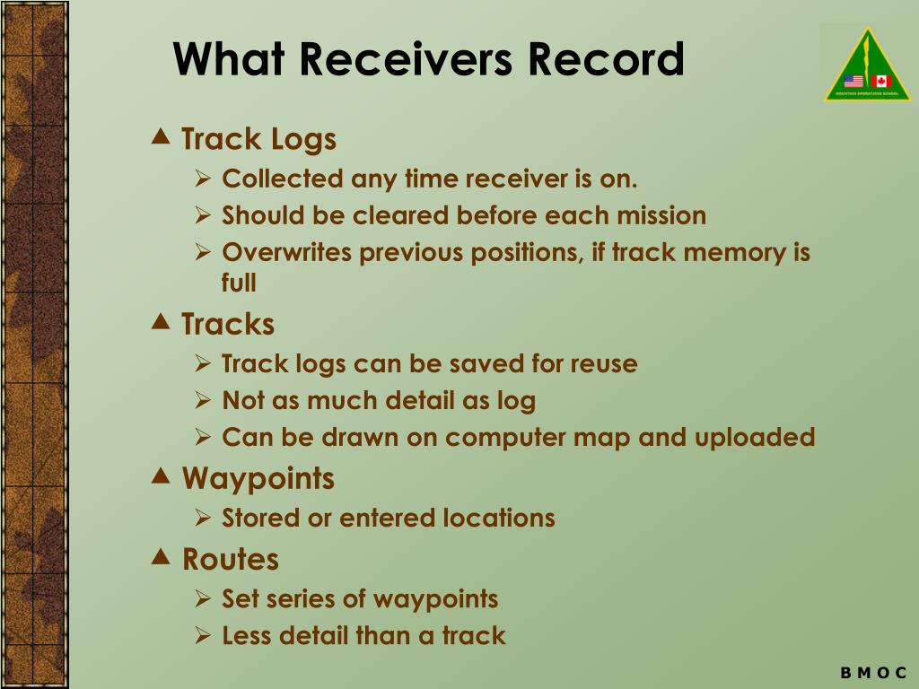 What Receivers Record