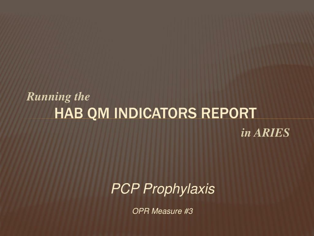 hab qm indicators report l.