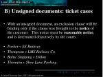b unsigned documents ticket cases