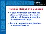 release height and success