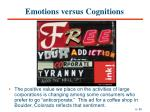 emotions versus cognitions33
