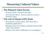 measuring cultural values