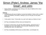 simon peter andrew james the great and john