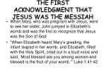 the first acknowledgment that jesus was the messiah
