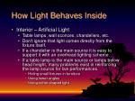 how light behaves inside4