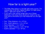how far is a light year