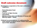 draft outcome document