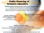 public financing of inclusive education