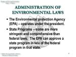 administration of environmental laws