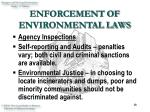 enforcement of environmental laws