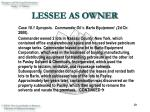 lessee as owner