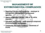 management of environmental compliance20