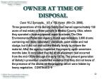 owner at time of disposal