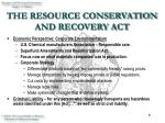 the resource conservation and recovery act8