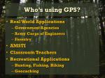 who s using gps